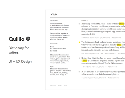 Quillio — Dictionary for Writers
