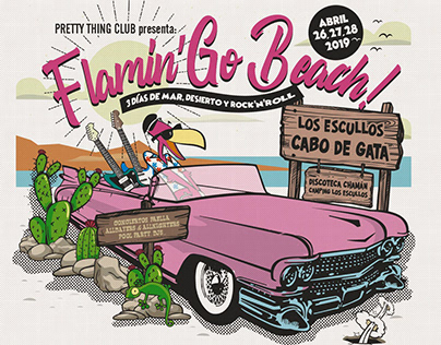 Cartel FLAMIN'GO BEACH