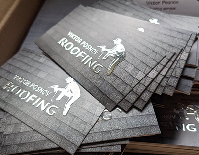 Roofing Service Business Cards and logo