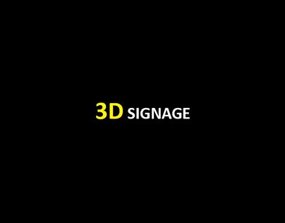 3D Signage Work