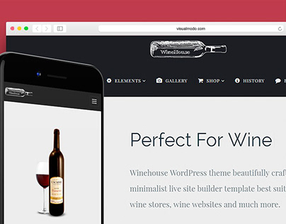 WineHouse WordPress Theme - Banner