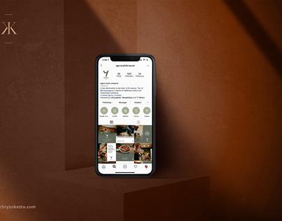 Cafe social media design
