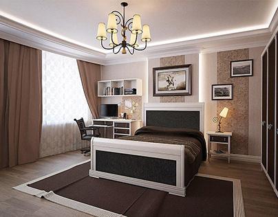 Bedroom for kid | 3d visualization
