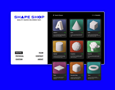 Shape Shop - e-commerce concept