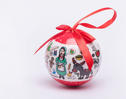 X'mas ball souvenirs from Cyprus
