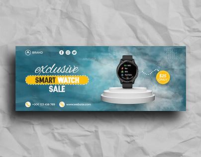 Smart Watch Sale Facebook Cover Template