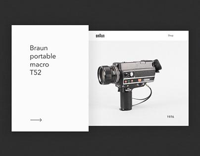 Braun - Website design