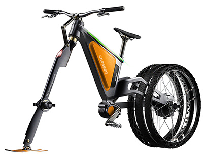 E - Ski Bicycle