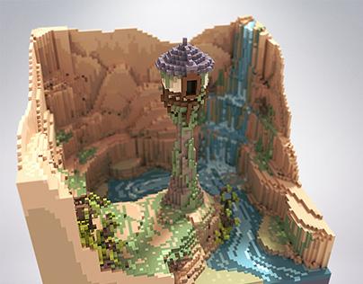 Rapunzel tower - voxel
