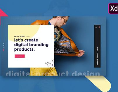 Website Featured Exploration Design XD Template