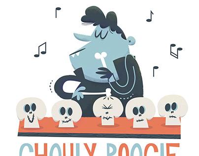 Vampire vibraphone | Halloween Illustration