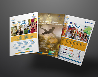Al Noor Training Centre event flyers