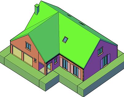 Projet 2ème année Modélisation 3D d'une maison