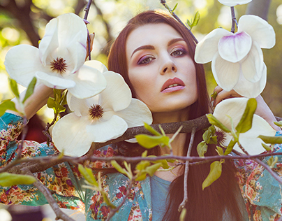 Glamour spring and magnolias