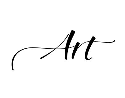 """""""Art"""" lettering"""