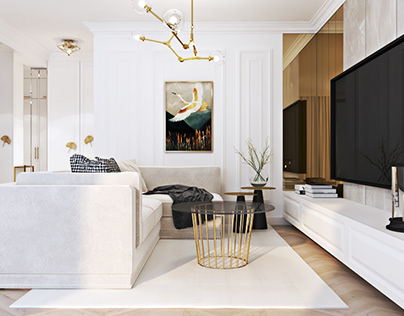 Interiors in a glamor style
