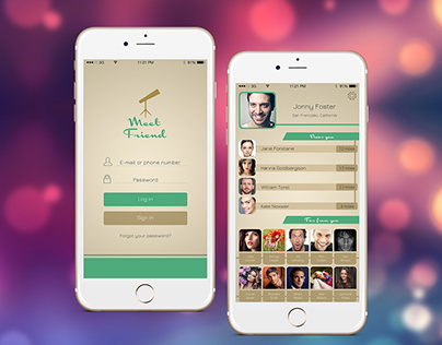 "Mobile App Design ""Meet Friend"""