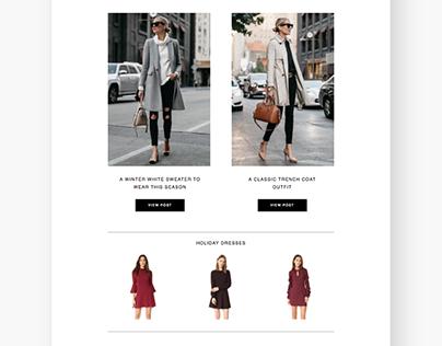 Fashion Jackson Newsletter Design