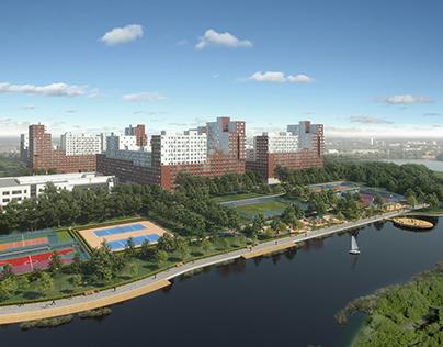 3D Визуализация жилого комплекса в Красково.