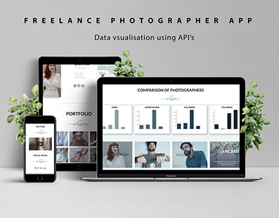 Data Visualisation using API's and artists from Behance