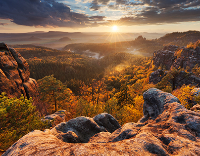 Autumn in the Saxon Switzerland
