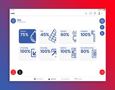 Valuation Dashboard UI Design: iPad - iOS (Norwegian)