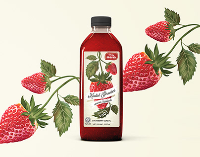 Strawberry Cordial | Branding & Packaging