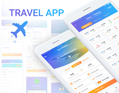 TravelApp - flight and Hotel mobile app design