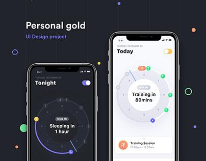 Personal gold app UI design case study