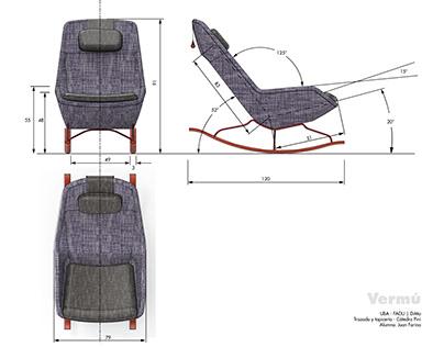 Vermú - rocking easy chair
