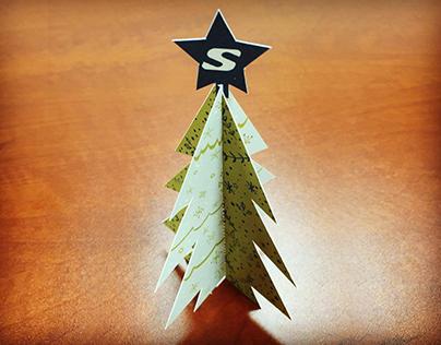 DIY Desktop Christmas Tree