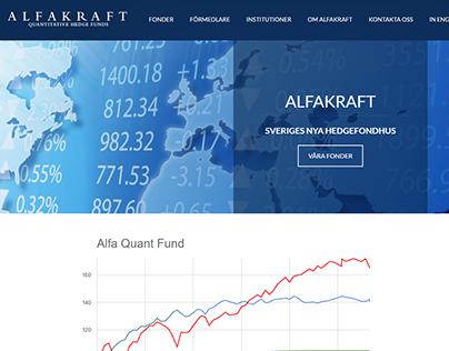 Alfakraft.se Web site - New design and fuctionality