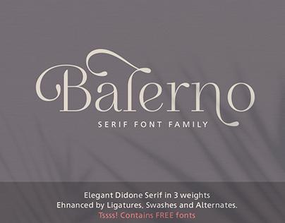 Balerno Serif Font Family