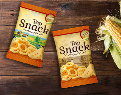 """Packaging for snack """"Top Snack"""". Concept"""