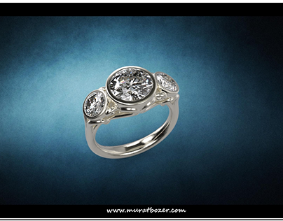 Custom Made Ring for 3 Carats Diamonds March 2015