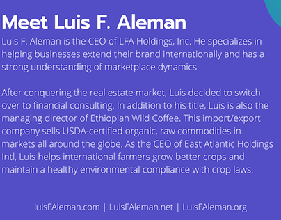 Meet Luis F. Aleman