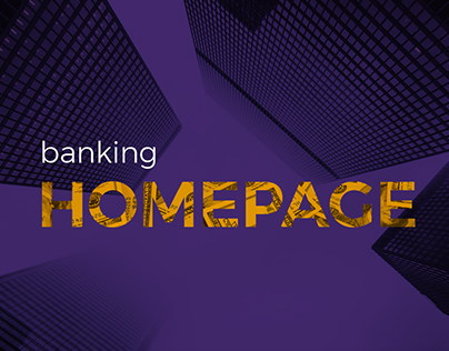 Banking Homepage