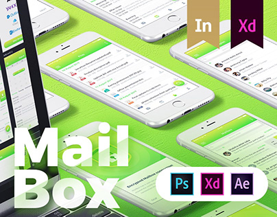MAILBOX - Email service Provider app design for iOS.