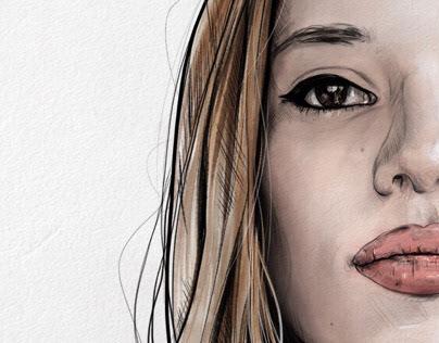 Aurora - Digital Art Portrait