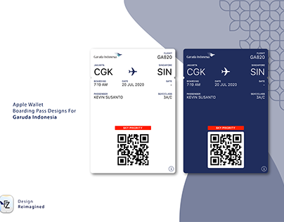Garuda Indonesia Apple Wallet Boarding Pass