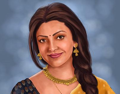 Kajal Aggarwal Digital painting