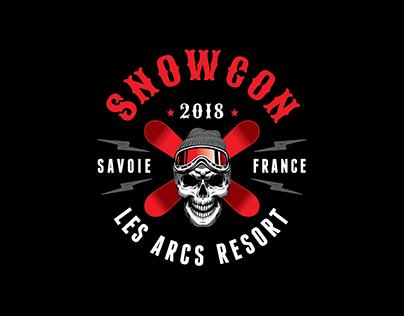 SnowCon18 T-Shirt & Cap Design