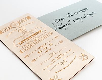 Laser Engraved Wedding Invitations