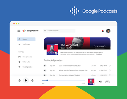 Google Podcasts Desktop App