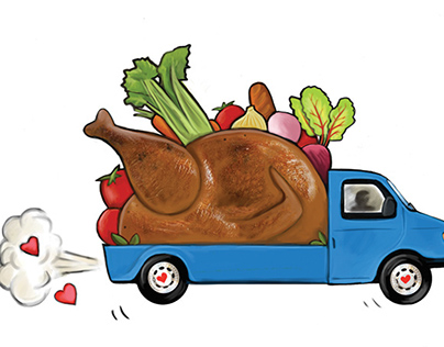 Meals on Wheels Spot illustration for Palette Magazine