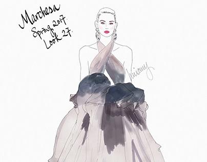 Fashion Runway Illustrations