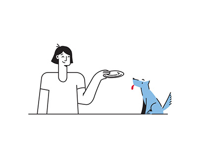 Humans & Pets - Free Vector Illustration