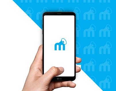 M + megaphone logo design