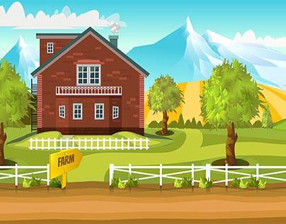 5 Farm Game Background