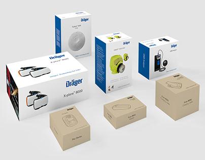 Packaging design for Dräger